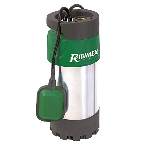 Ribimex PRPVC801MC3 Pompa per Pozzi 3 Turbine 800 W, Verde/Grigio, 35x15.5x15.5 cm