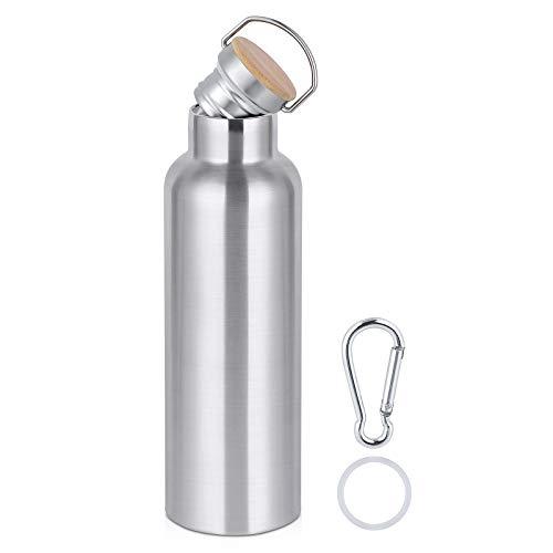 Ecloverlife Edelstahl Trinkflasche,Thermosflasche 750 ml, Vakuum Isolierflasche, BPA frei, Auslaufsicher & Kohlensäure geeignet Wasserflasche - für Sport, Fitness,Camping,Fahrrad, Outdoor.