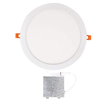 OSTWIN 12 inch LED Recessed PROFILE SLIM ROUND PANEL Light with Junction Box