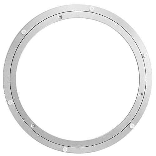 Heavy Duty Aluminium Rotating Lazy Susan Turntable Kitchen Base Turn Dining Table Round Rolling Display Rack Rotary Bearing Swivel Plate for Heavy Loads (10 inch)