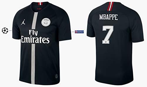 Trikot Herren 2018-2019 Third Black UCL - Mbappe 7 (S)