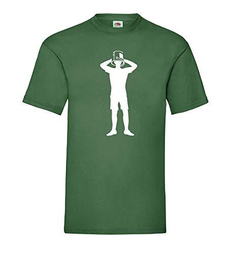 Ice Bucket Challenge shirt84.de - Camiseta para hombre verde botella M