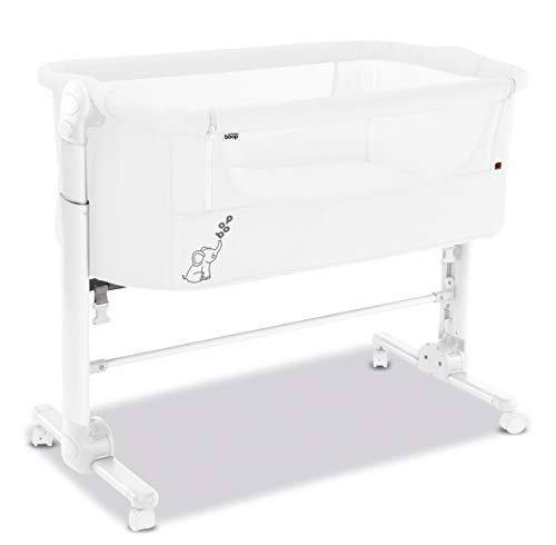 asalvo 17215 Bed Side Crib Fold, weiß