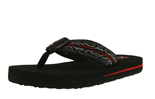 Teva Mush II Y's Unisex-Kinder Sport- & Outdoor Sandalen, Schwarz (Wood Stripes Black M 960), 32