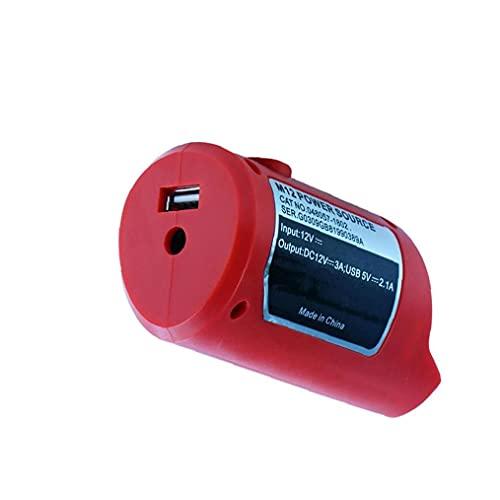 LAANCOO USB Fuente de alimentación M12 USB Adaptador de energía del Cargador de batería Li-Ion de Dispositivos USB al Adaptador de Carga Rojo