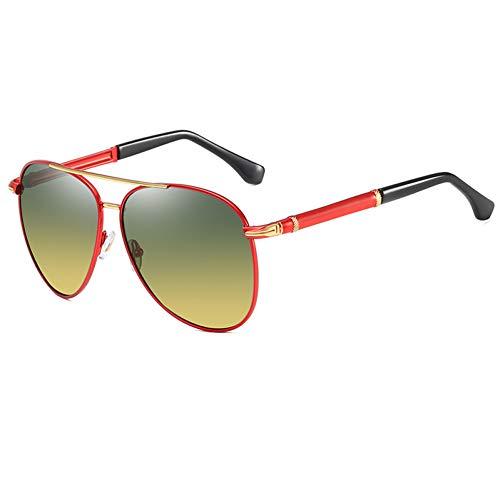 Vintage Gepolariseerde Dag Nachtzicht Mannen Designer Bril Voor Auto Anti Glare Meekleurende Zonnebril