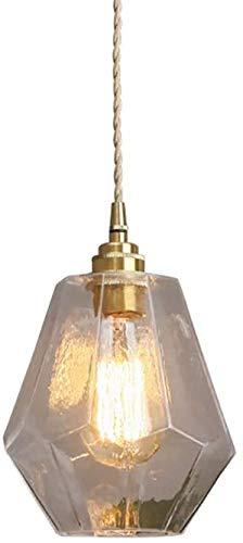 LTYGZ Retro Ottone Antico lampadario di Vita Creativa Camera da Letto soffitto di Vetro Paralume Cucina Sala corridoio lampade Decorative artistiche,A