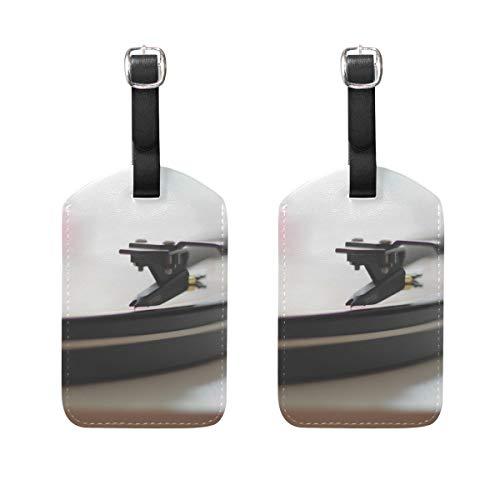 Montoj - Etiquetas para Maleta (2 Unidades), diseño de gramófono