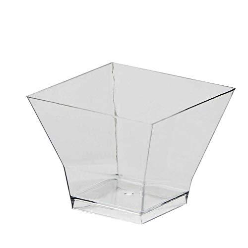 Transparent 60ml Kunststoff Pagode Dessertschale (25Stück)
