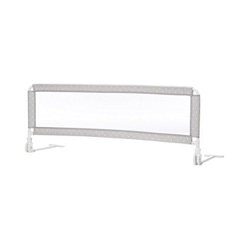Fillikid Barrière de lit « pois » barrière de lit bébé, gris
