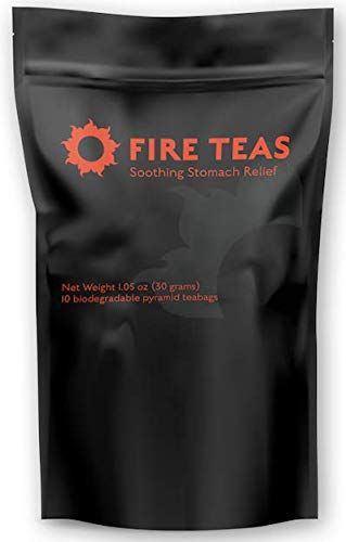 FIRE TEAS - Soothing Stomach Relief Tea- Irritable Bowel & Abdominal Discomfort - Organic Fennel, Peppermint, Chamomile, Ginger - Anti-Inflammatory - For Diverticulitis, Nausea, Cramps, IBS - Made in WA.
