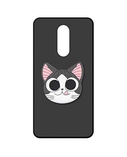 Sunrive Funda para ZTE Axon 7 Mini, Silicona Mate Gel Carcasa Case Bumper Anti-Arañazos Espalda Cover Anillo Kickstand(Gato) + 1 x Lápiz óptico