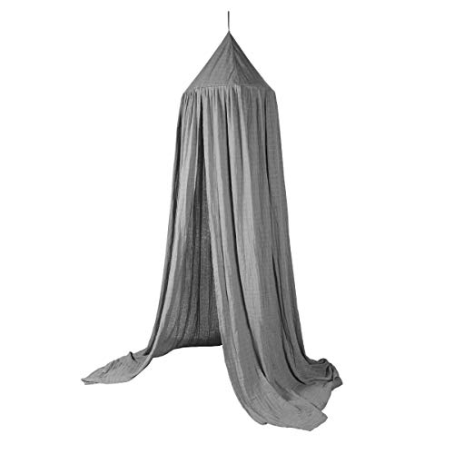 Sebra - Baldachin - Baumwolle - Grau - Ø 52cm x H: 240cm
