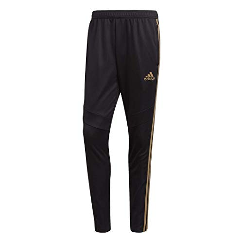adidas Men's Standard Tiro 19 Pants, Black/Reflective Gold, Larg