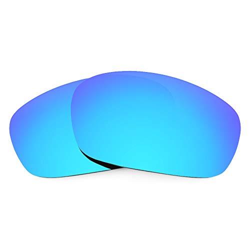 Revant Ersatzgläser Kompatibel mit Oakley Racing Jacket (Asiatische Passform), Polarisiert, Eisblau MirrorShield