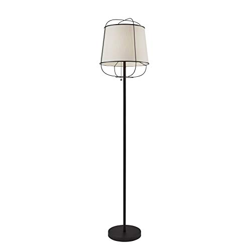 Adesso Home 4119-01 Transitional One Light Floor Lamp from Daisy Collection Finish, 14.25 inches, Matte Black