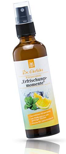 Dr. Ehrlichs Gesundkatalog Dr. ehrlichs körperspray erfrischungsmomente - kühl-spray die perfekte abkühlung im sommer urlaub - body splash die natürliche erfrischung mit zitrone und pfefferminze