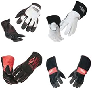 Lincoln Electric 2105730 Guantes de Soldadura Cuero Completos Steel Worker, Talla Única