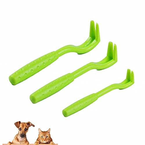 3 Größen Zeckenhakenfür alle Zecken Anti Zeckenhebel Schutz Hund Katze Pferd,Zeckenfallen, Zeckenhaken, Zeckenfallen,Grün