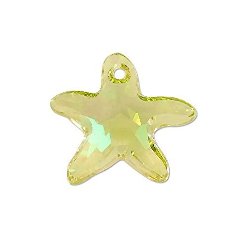 1 colgante de Swarovski Elements, diseño de Starfish (6721), cristal luminoso verde, 16 mm (SwAROVSKI Elements durante - Starfish (6721), cristal luminoso green)