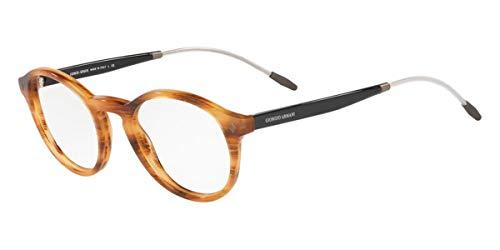 Giorgio Armani 0AR7168 Monturas de gafas, Striped Brown, 48 para Hombre