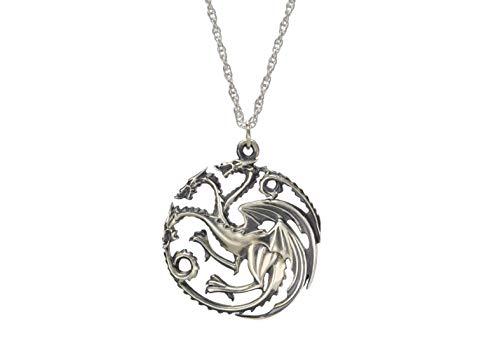 The Noble Collection Juego de Tronos Colgante Targaryen Plata de Ley