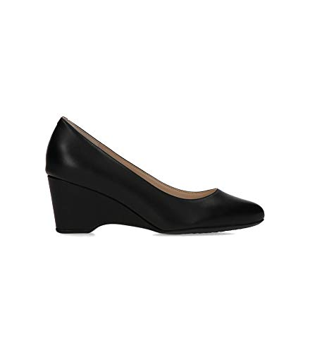 Cole Haan Women's The GO-to Wedge (60MM) Pump, BLACK LEATHER WP, 8