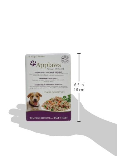 Applaws Natural Dog Food, Multipack, Finest Collection,In Jelly Pouch, 100g (Total Pack of 20) 13