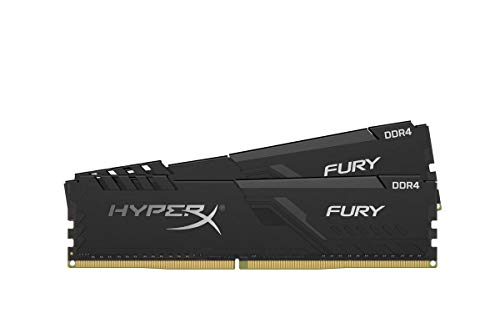 HyperX Fury HX426C16FB3K2 / 16 DIMM DDR4 CL16 (kit 2x8GB) 16GB 2666 MHz CL16 DIMM 1Rx8 nero
