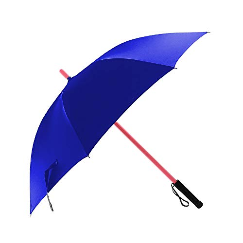 LED Lightsaber Light Up Umbrellas with 7 Color Changing Effects, Windproof Golf Umbrellas with Flashlight Handle (Blue)