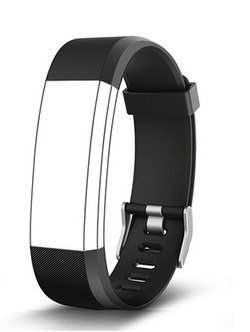 Aquaasian ID115 Plus HR Replacement Strap Suitable for Your Style(Black)