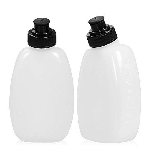 Efanr 2Pcs Water Bottles 8.5 oz BPA Free Leakproof Bottle Suit for Most Running Fuel Belts and Fanny Packs