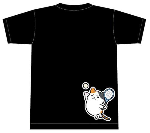 Tシャツ ソフトテニス【猫 ソフテニ ジャンプ】【16500】【限定】ブラック Oサイズ