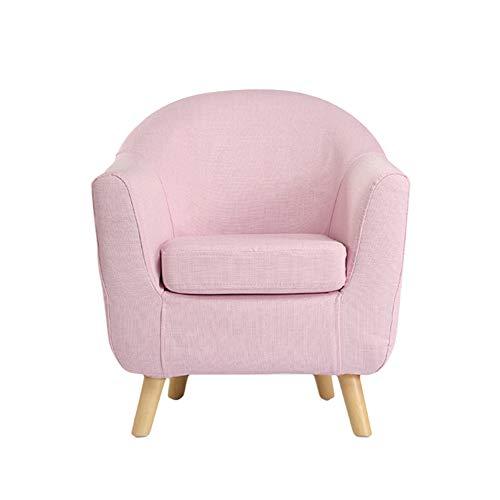 HAKN Sofa d'enfants, petit sofa mignon de dessin animé de siège de sofa de bébé mignon (Couleur : Cherry powder)