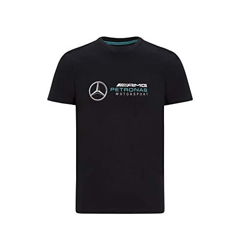 Mercedes-AMG Petronas Offizielle Formel 1 Merchandise 2020 - Logo T-Shirt Herren - Schwarz - Baumwolle - S