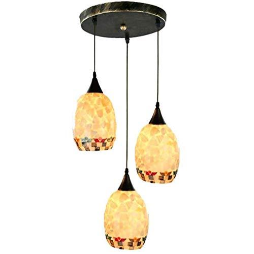 Fgh Vaso Candelabro, Creativo Colgante De Luz,Cáscara Sombra Comedor Luces Colgantes Lámpara De Techo Entrada Pasillo Corredor Sala Decoración Rubor Montar Accesorios Ligero,B