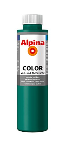 Alpina Farben Voll und Abtönfarbe Wandfarbe Alpina Color Farbton Deep Green 750 ml