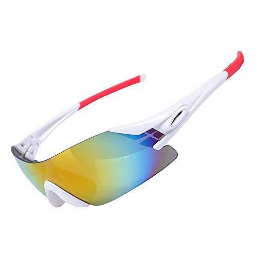 LAMZH Gafas de Sol enamoradas de la Moda de la Moda de Las Gafas de Sol Gafas de Sol polarizadas de los Hombres Que conducen el Ciclismo Que Corre el Golf (Color : White)