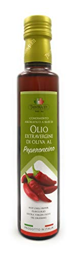 Extra Natives Olivenöl mit natürlichen Peperoncinoaroma - 1x250 ml - Italienisches Peperoncino Olivenöl in höchster Qualität - TrentinAceti - kaltgepresst