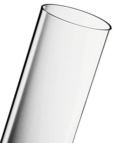 ACTIVA Tubo de cristal (125 x 10 cm), diseño de pirámide Cheops, transparente