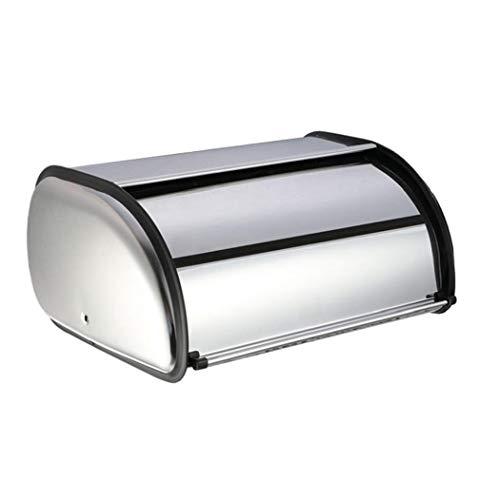 TOPofly Cajas de Pan para el Contador de Cocina de Acero Inoxidable antihuella Pan Almacenamiento Panera de 13.36'* 9.04' * 5.7