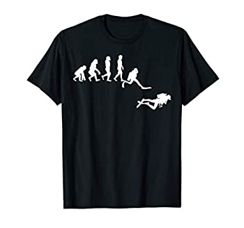 Scuba Dive T- Shirt Evolution Diving Diver Ocean Lover Gift