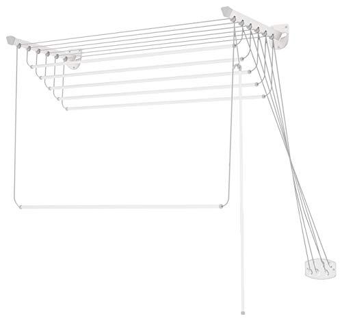 Colombo Stendibiancheria da Parete, Bianco, 8m
