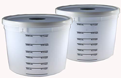 1.1-Gallon Dough Rising Bucket With Lid- Fits Instant Pot Model DU060-2 Pack