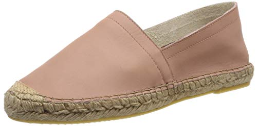 PIECES Damen PSKATIE Leather Espadrilles, Mehrfarbig (Rose Dawn Rose Dawn), 39 EU