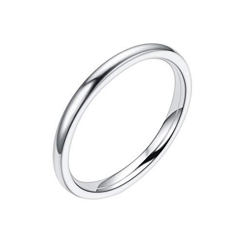 Orderking Ringe Damen Herren 2mm Titan Poliert Schmal Ringe Verlobungsringe Ehering Hochzeitsringe 2mm Silber Herren Damen Wolfram Ring Wolframcarbid Ringe Hochzeit Ehering Verlobungsringe Polierte