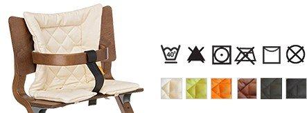 Sitzkissen fr Leander Kinderhochstuhl Babyhochstuhl Stuhl Hochstuhl Farbe: creme