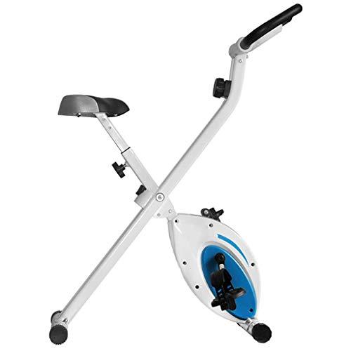 WGFGXQ Bicicleta estática con 8 Niveles de Resistencia magnética Ajustable, Plegable y silenciosa, Pantalla LCD, Utilizada para Bicicletas de Entrenamiento aeróbico en el hogar, Peso Fijo 220 Libra