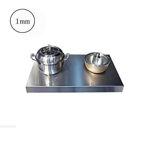 Solide Keuken roestvrij staal inductie kookplaat beugel aardgas gasfornuis deksel tafel kookplaat coverThickness: 1.5mm, Afmetingen: 50 * 40 * 9cm (Color : 1mm, Size : 50 * 80 * 7cm)