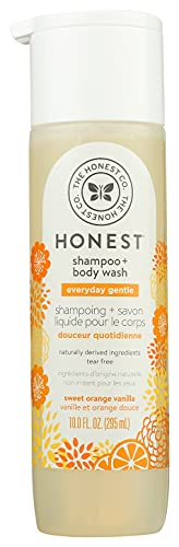The Honest Company Perfectly Gentle Sweet Orange Vanilla Shampoo + Body Wash, Tear-Free Baby Shampoo with Naturally Derived Ingredients, Sulfate- & Paraben-Free Baby Bath, 10.0 Fl Ounces